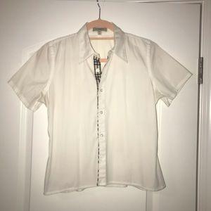 Women's Burberry white shirt. XS
